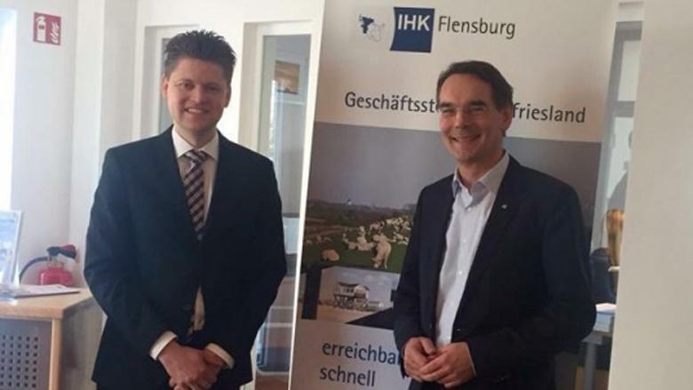 Ingbert Liebing, MdB trifft den neuen IHK Geschäftsstellenleiter für Husum