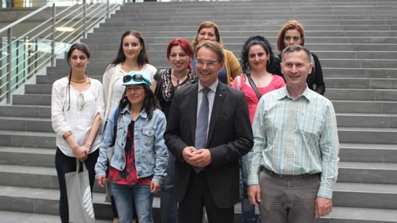 Politisch interessierte Migranten bei Liebing zu Besuch im Bundestag